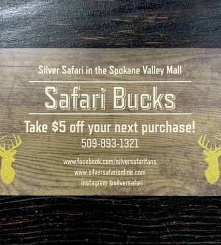 silver safari bucks